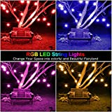 48FT Outdoor Color Patio Lights, RGB Cafe String