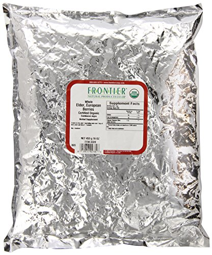 Frontier Elder Berries Whole Organic – 1 lb