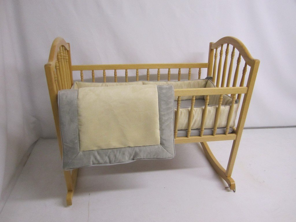 Baby Doll Bedding Zuma Cradle Bedding Set, Grey/Beige by BabyDoll Bedding   B009S51S2M