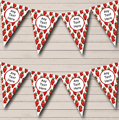 Strawberry Personalized Birthday Party Bunting Banner Garland
