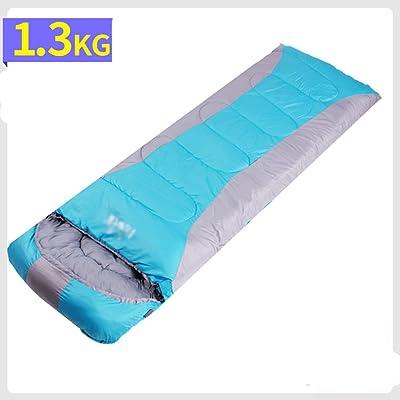 Sac de couchage pour adultes en plein air en automne et en hiver sac de sommeil chaud intérieur sac de couchage pour camping portable portable simple ( Couleur : Bleu )