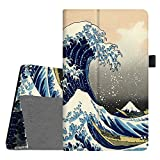 Fintie Folio Case for All-New Amazon Fire HD 8 (6th Generation, 2016 release), Slim Fit Premium Vegan Leather Standing Cover Auto Wake/Sleep for Fire HD 8 Tablet (2016 6th Gen Only), Rough Sea