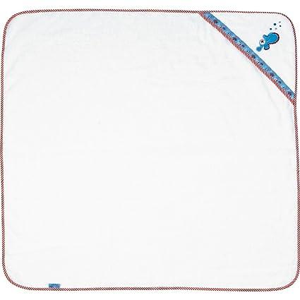 Toalla con Capulla para Bebés Serie Caballito de Mar BabyGlück 100 x 100 cm