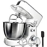 Food processor, dough mixer dough machine caker mixer dough mixer, max speed with stainless steel bowl anti-oil lid…
