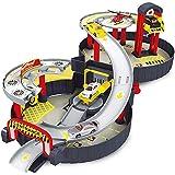 kaimus Gioco del Giocattolo del Giocattolo di parcheggio della Gomma 'Elicottero 'Automobile dei Veicoli del Fumetto dei Bambini Aerei