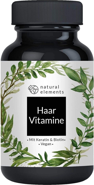 Haar Vitamine - Einführungspreis - 180 Kapseln - Premium: Hochdosiert mit Keratin -