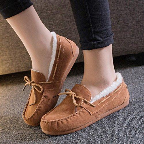 NSXZ Winter warm plus Velvet mother shoes snow boots KHAKI-7660CM 8dUieue