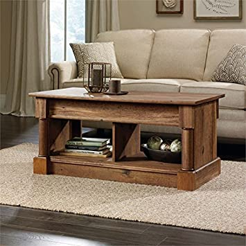Perfect Sauder Palladia Lift Top Coffee Table In Vintage Oak