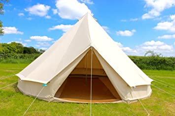 100% Cotton Canvas 5 metre Bell Tent with zipped in groundsheet by Bell Tent Village : 5 metre bell tent - memphite.com