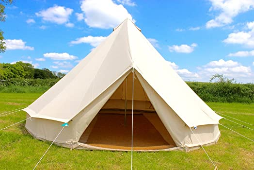 100% Cotton Canvas 3 metre Bell Tent with zipped in groundsheet by Bell Tent Village & 100% Cotton Canvas 3 metre Bell Tent with zipped in groundsheet by ...