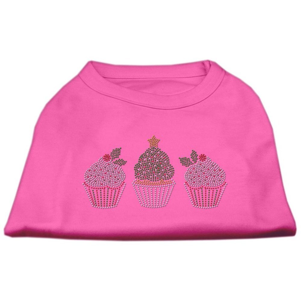 Mirage Pet Products Christmas Cupcakes Rhinestone Pet Shirt, 3X-Large, Bright Pink