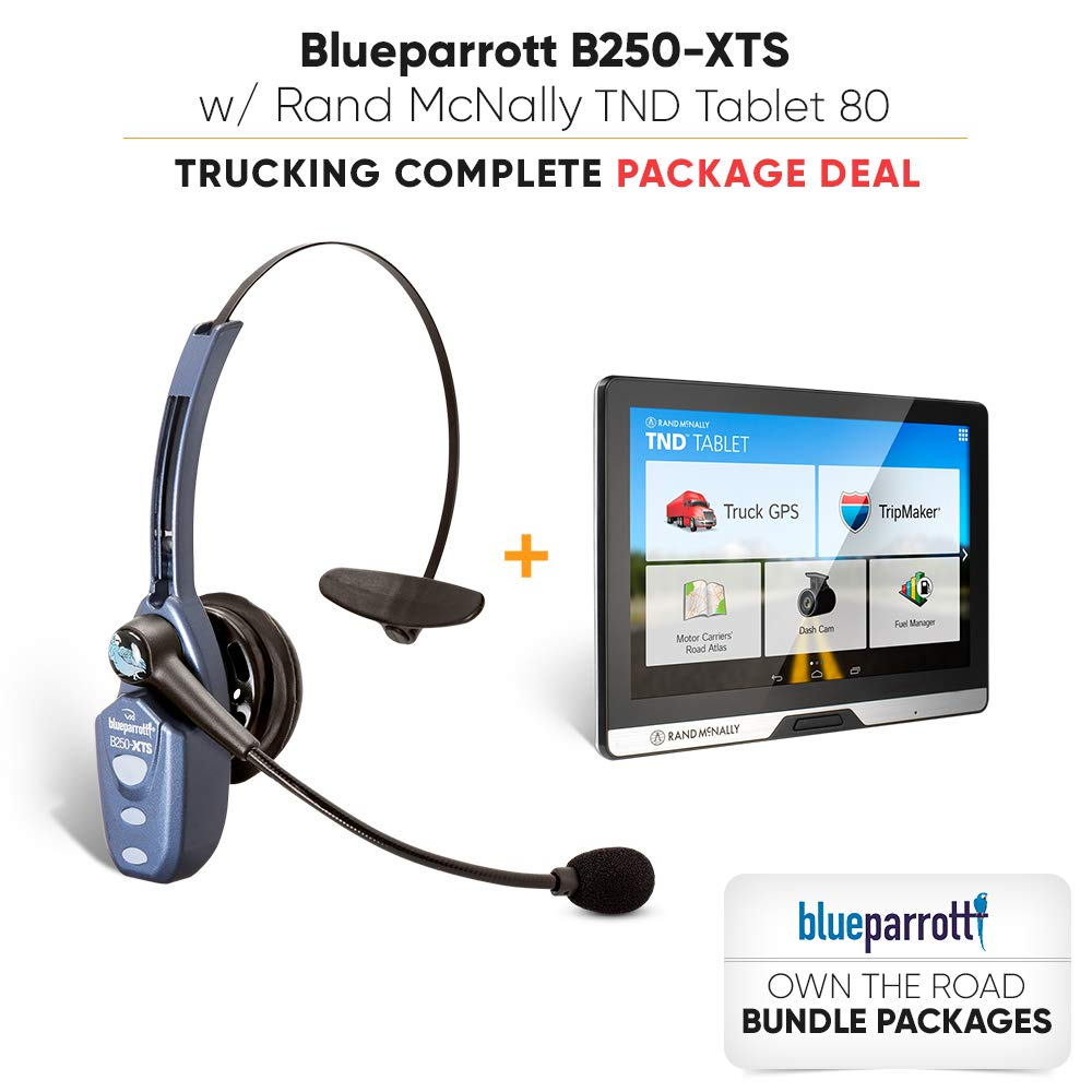 4cf00200cd8 Amazon.com: VXi BlueParrott B250-XTS (203100) Xtreme Noise Suppression  Bluetooth Headset (Own The Road Package Deal): Home Audio & Theater