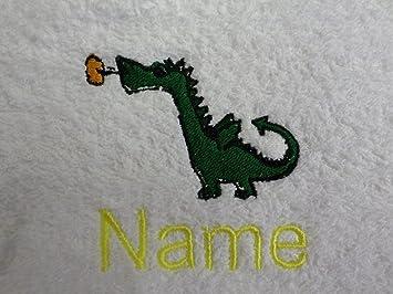 Toalla para la cara, toalla de mano, toalla de baño, baño (o) personalizado con dragón bebé Logo y nombre ...
