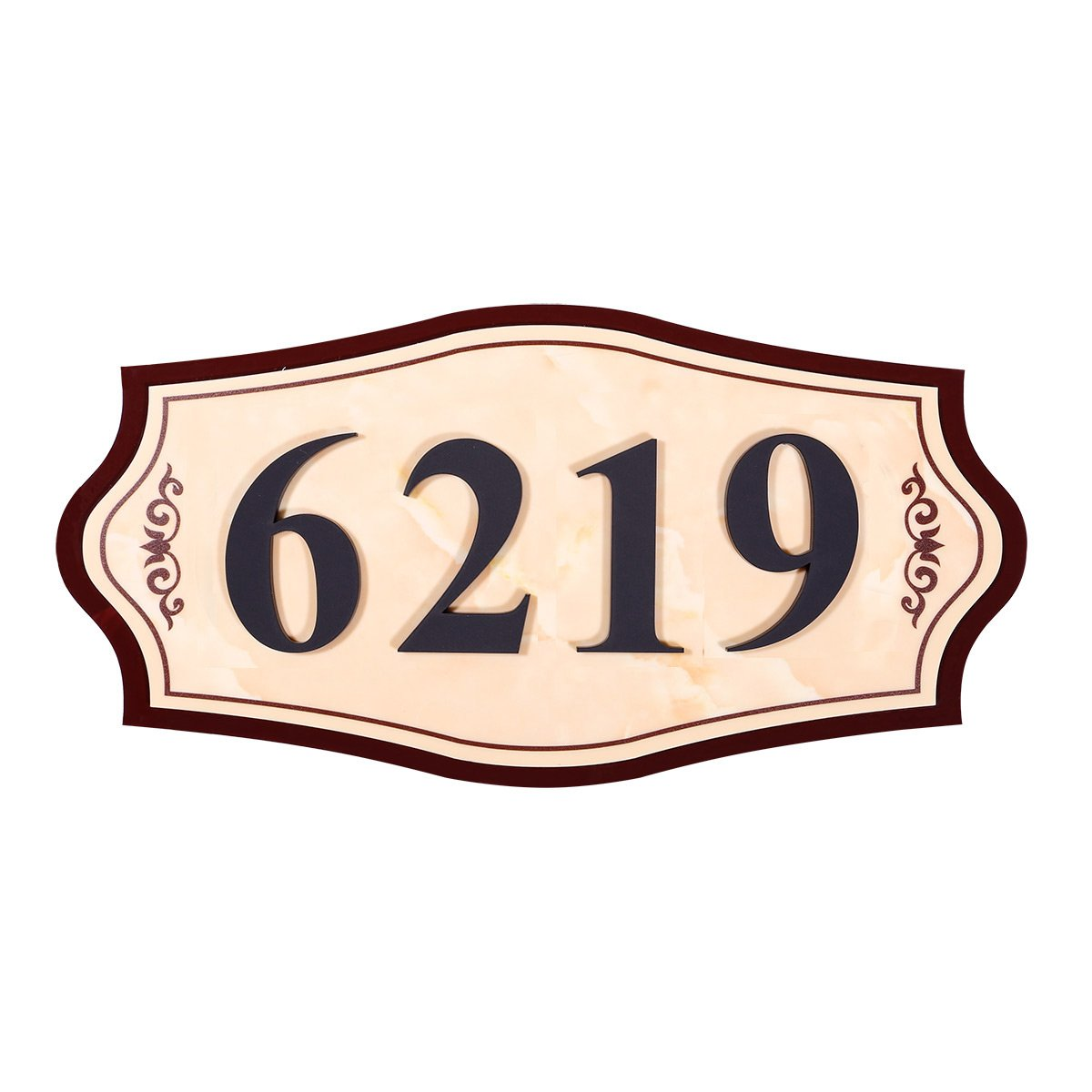 WaaHome Address Plaques for House Personalized Home Address Signs,11.8''X 5.9''