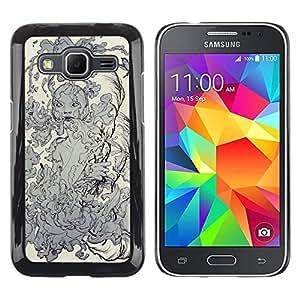 Be Good Phone Accessory // Dura Cáscara cubierta Protectora Caso Carcasa Funda de Protección para Samsung Galaxy Core Prime SM-G360 // Water Nature Elements Earth Smoke Goddess