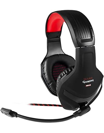 Mars Gaming MH2 - Auriculares gaming (micrófono plegable y flexible, drivers neodimio 40mm,