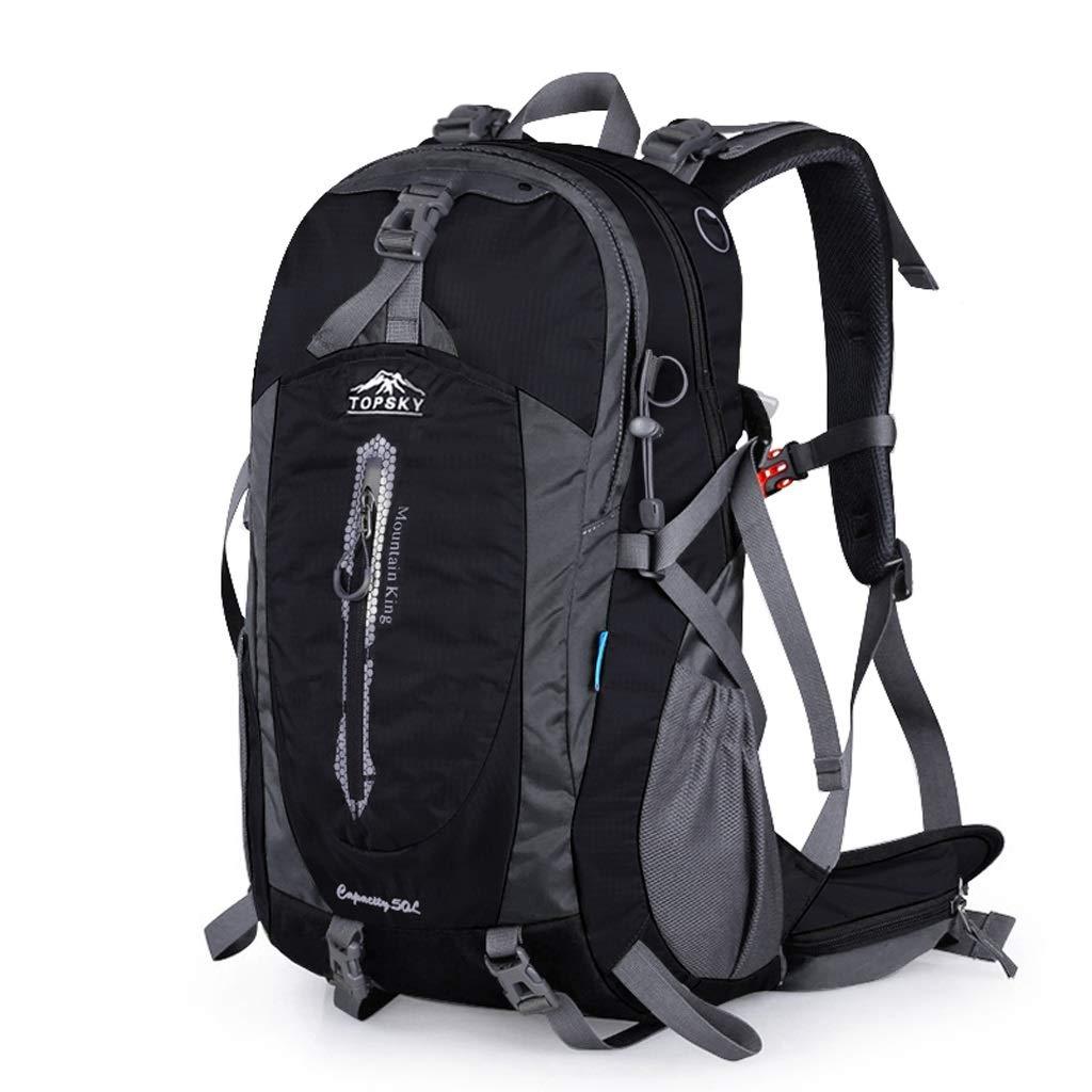 屋外バックパック 屋外登山バッグの肩の男性と女性の大容量の防水プロの旅行バックパック50 L HBJP (色 : D) B07RW5L4QH D