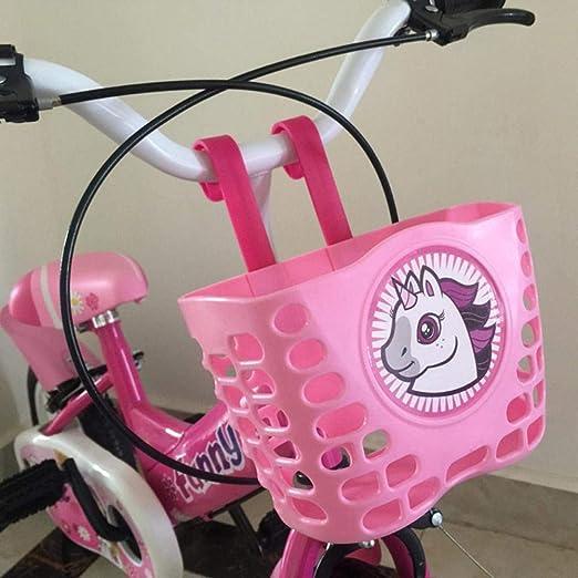 Following cesta delantera para bicicleta para niños cartón animado ...