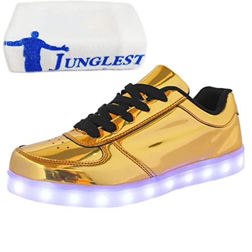 junglest (Presente:Pequeña Toalla) Zapatos Deportivos para Hombre Mujer Brillantes Luces para Danza Baile Fiesta Zapatillas LED Carga por: Amazon.es: ...