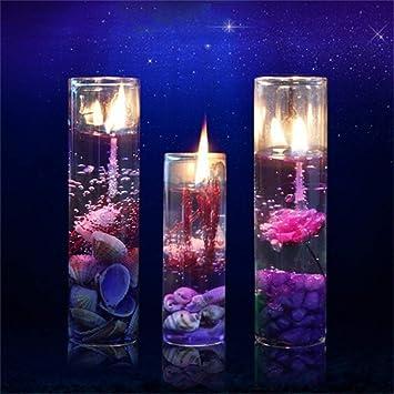 AimdonR Velas de aromaterapia 6PCS Ocean Theme, gel de cera de gelatina sin humo con botella de vidrio, regalos de navidad: Amazon.es: Hogar