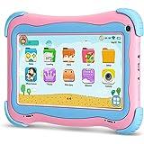 Yuntab 7 Pollici Tablet PC Q91 per bambini 1GB RAM 1+16G ROM Android 5.1 1.5GHZ quad core iWawa Kids Learning & Playing App load 1024*600 FULL HD Touch Screen Wifi Bluetooth 4.0  (Rosa+Blu)