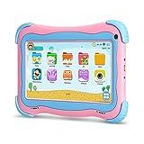 YUNTAB Q91 Tablet infantil de 7 pulgadas (Android 5.1, Quad-Core,Allwinner A33, WiFi, Bluetooth, HD 1024x600, 8GB ROM, Tarjeta TF 32 GB, Doble Cámara, Google Play, Juegos Educativos) (Q91, ROSE)
