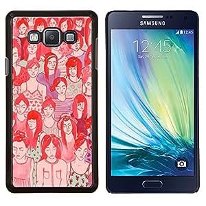 Stuss Case / Funda Carcasa protectora - Croud Hipster significado profundo rojo del arte - Samsung Galaxy A7 ( A7000 )