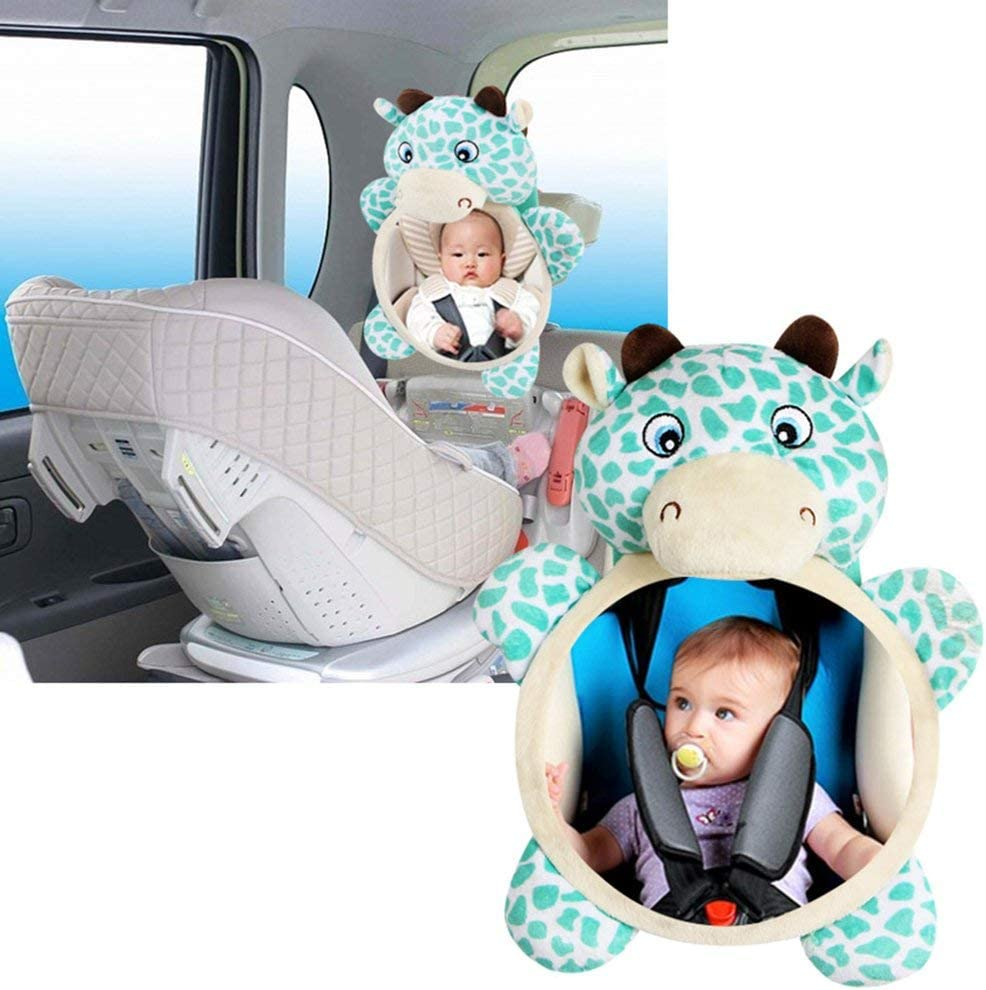 Leoboone Funny Kawaii Design Baby Mirror Car Back Seat Cover for Infant Child Kids Rear Ward Safety View Toys Gift