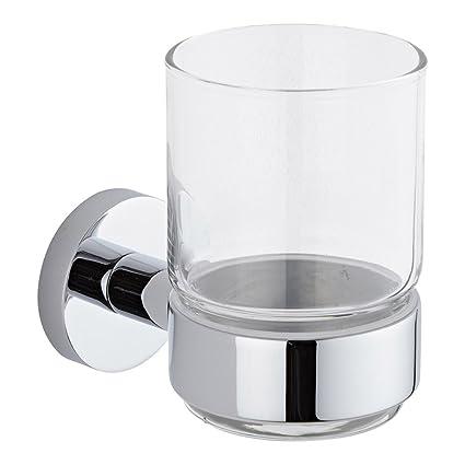 Hudson Reed Vaso Porta Cepillo de Dientes y Soporte Porta Vaso de Pared