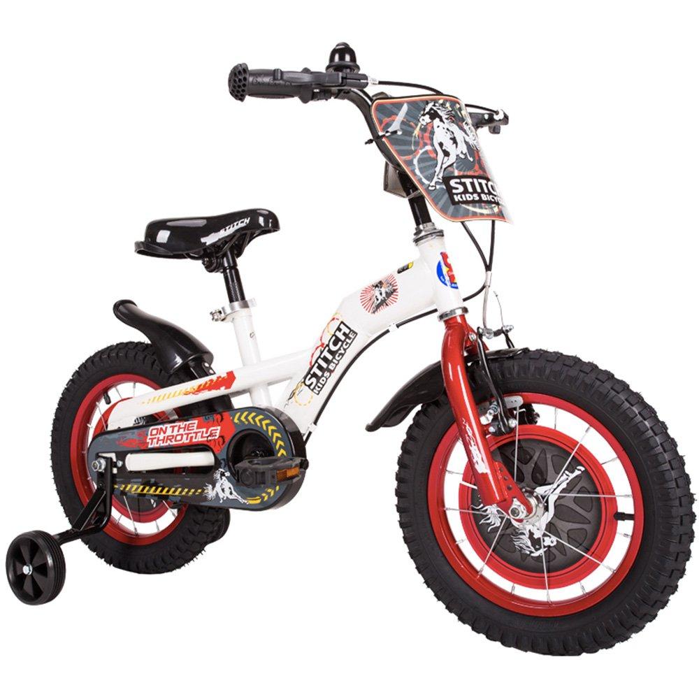 PJ 自転車 子供用自転車、アンチスキッドショックアブソーバー屋外自転車品質ブレーキシステム子供用自転車子供用自転車 子供と幼児に適しています ( 色 : 白 , サイズ さいず : 14Inch ) B07CQWKK6V 14Inch|白 白 14Inch