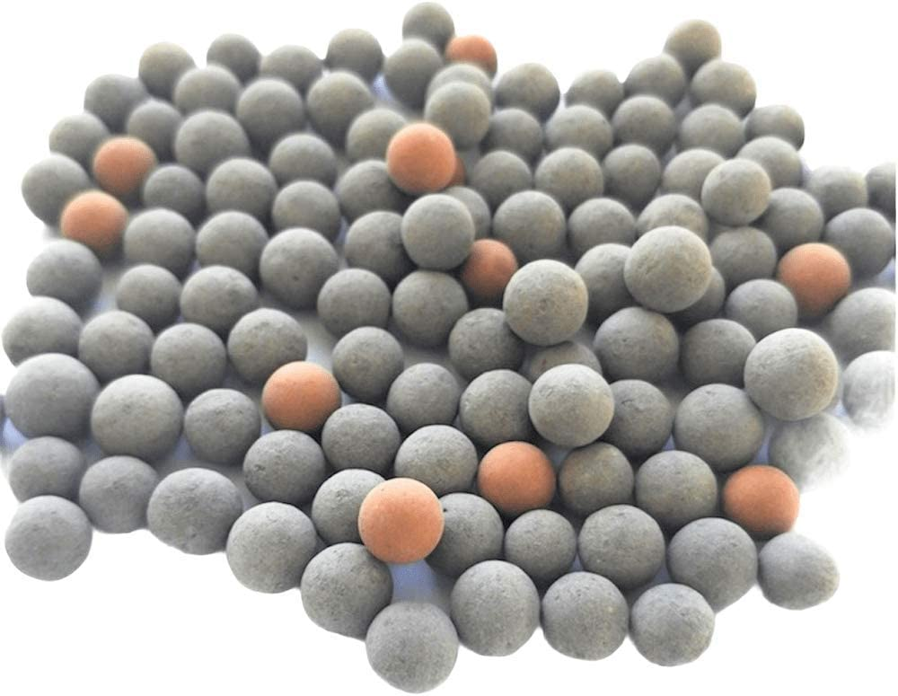 DreamDealsSG 100pcs Tourmaline and Mineral Balls for Freshwater Aquarium Tank. Mineral Supplement Substrate. Live Shrimp Food and Betta Fish Food. Water Conditioner for Freshwater Shrimp etc.