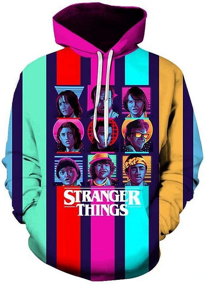 Felpa stranger things serie Tv Netf con cappuccio
