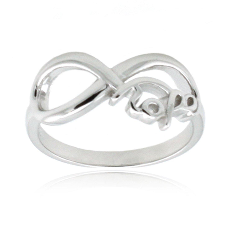 Sterling Silber Ring Unendlichkeit Hope Amazon Schmuck
