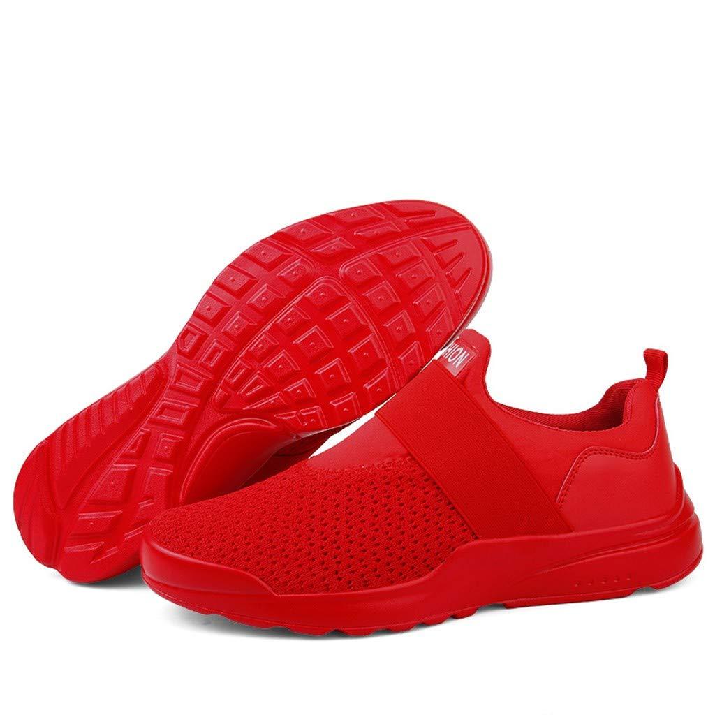BOBOLover para Hombre Zapatillas de Punto de Casual Athletic Zapatillas de Correr para de Zapato de Hombre de Tenis Caminar b/éisbol Trotar Antideslizantes Resistentes Al Desgaste Casual Sneakers
