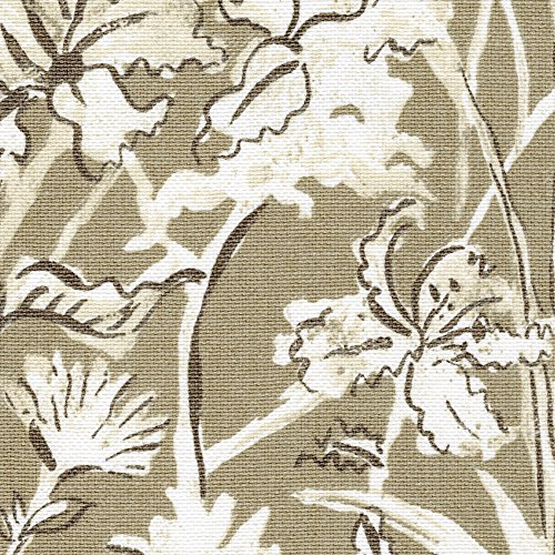 Garden Party Sand Floral Beige Tailored Valance Lined Cotton - Valance Garden Tailored