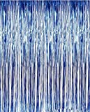 ShinyBeauty Tinsel Foil Fringe Curtain-3FTX8FT-RoyalBlue Door Window Curtain/Backdrops Party Decoration (Royal Blue) by ShinyBeauty