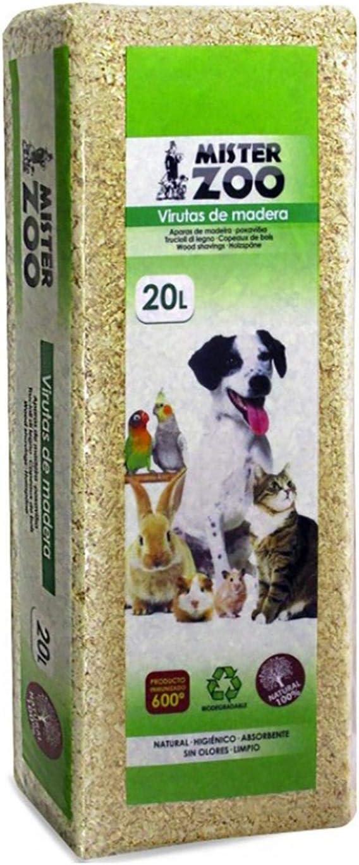 MovilCom® - Virutas de Madera para Mascotas, Ropa de Cama, serrín para Animales, 100% Natural, 20L
