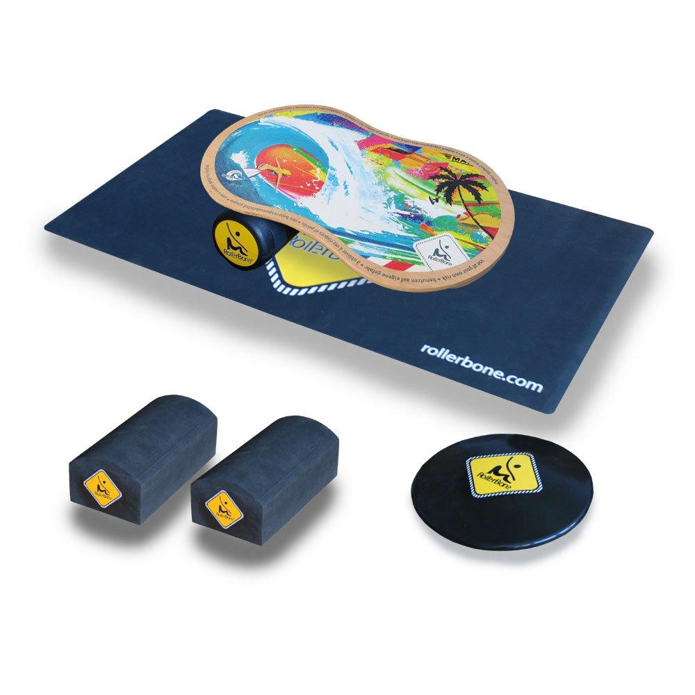 RollerBone Shabby 1.0 Pro Balance Board Set + Balance Trainer Kit + Carpet