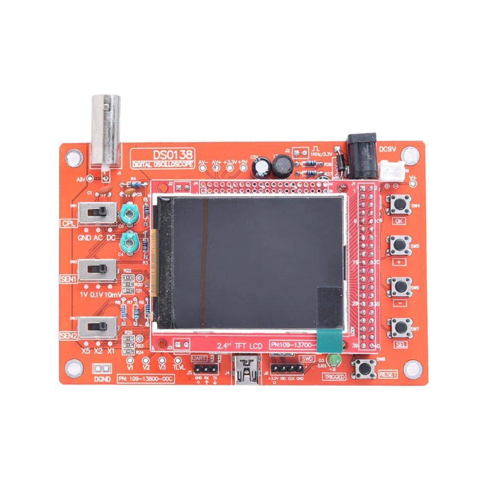 Kit de osciloscopio sonda B1 con pantalla TFT de m/últiples colores de 2.4 pulgadas osciloscopio digital soldado y ensamblado