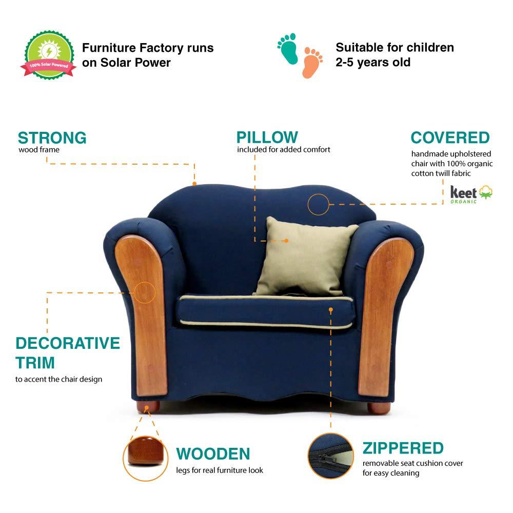 Amazon.com: keet Homey VIP orgánico silla, Azul marino: Baby
