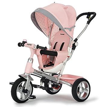 Fenfen - Bicicleta infantil para bebés de 1 a 7 ruedas, color verde/rosa, 75 x 51 x 101 cm: Amazon.es: Hogar