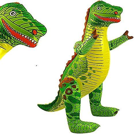 German Trendseller® - 1 x inflable dinosaurio ┃T-Rex ┃78 cm ┃fiestas infantiles┃ idea de regalo┃cumpleaños de niños┃ 1 unidades