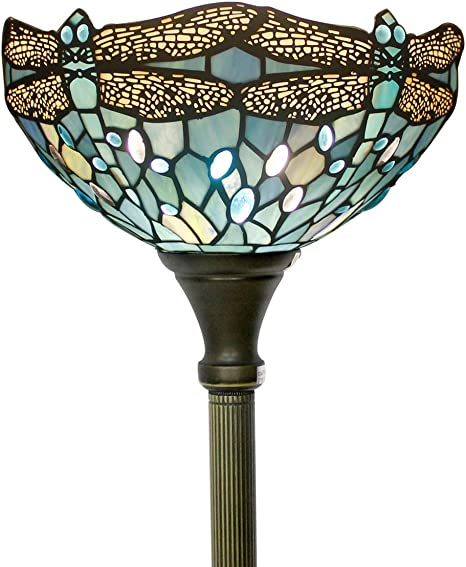 Tiffany Style Torchiere Light Floor Standing Lamp Wide 12 Tall 66
