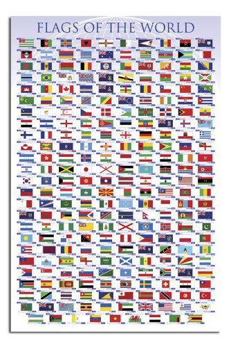 Iposters Flags Of The World Poster Gloss Laminated - 91.5 X