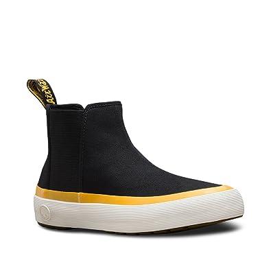 b7d47f212c4 Amazon.com | Dr. Martens Women's Phoebe Chelsea Boots, Black, Canvas,  Textile, Rubber, 5 M UK, 7 M US | Ankle & Bootie