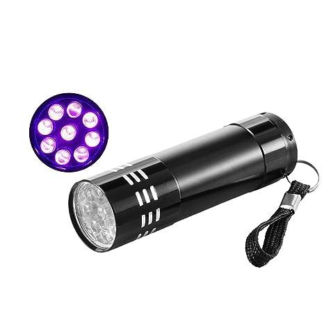 UV Flashlight Black Light UV Lights, Ourleeme Ultraviolet Light Detector,Pocket Flashlights with 9
