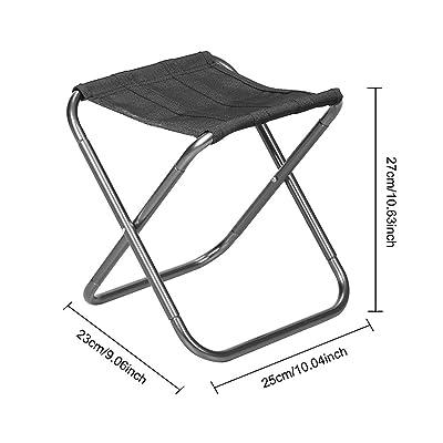 Purebesi extérieur en aluminium ultra léger en alliage Siège de pêche de divertissement Portable pliant Route Chaise de camping BBQ Tabouret pour randonnée Pêche Voyage randonnée