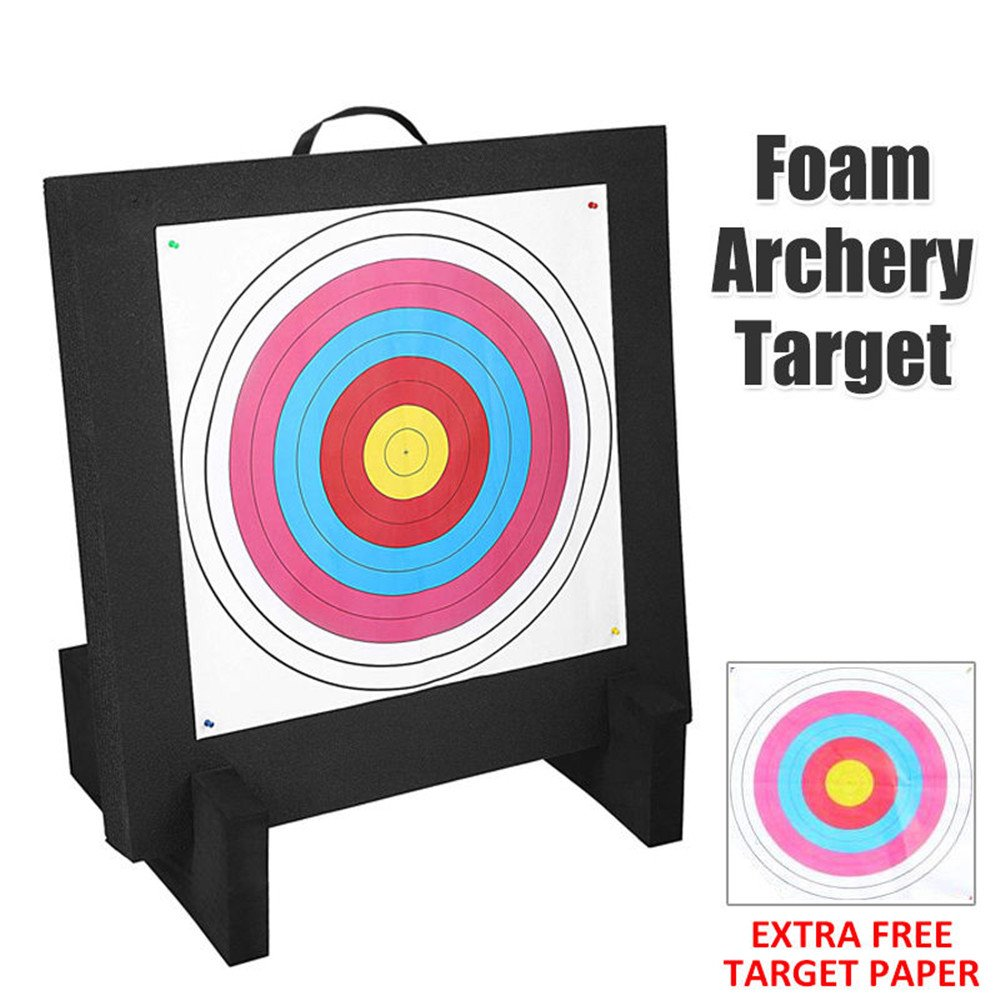 Smarty AT-02 High Density Self Healing XPE Foam Archery Shooting Targets with Stable EVA Base, 60x60x8cm