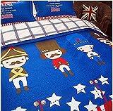 4pcs Kids Children Beddingset Duvet Cover Set Duvet Cover No Comforter Flat Sheet Pillowcases BLY Twin Full Queen Love Country Flag Star Design (Twin, Love London, Blue)