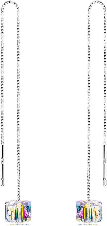 Alex Perry Regalo para Ella, La Serie Kaleidoscope, Plata Esterlina 925, Pendientes para Las Mujeres, Cristal de Swarovski, Elegante Caja De Regalo
